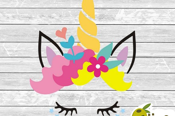 Unicorn face 1 SVG cutting file