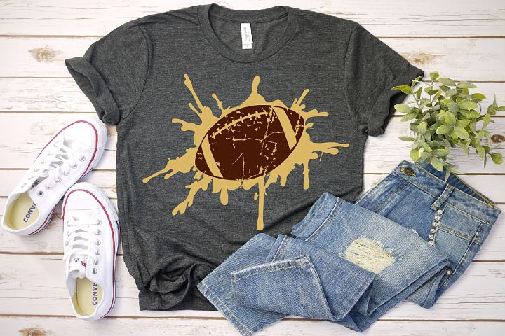 Grunge Football svg Splash Splatter ink Love Football gift