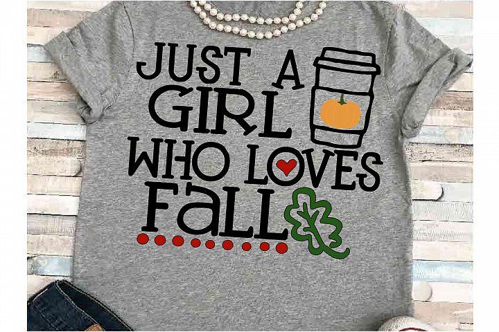 Pumpkin svg DXF JPEG Silhouette Cameo Cricut girl loves fall