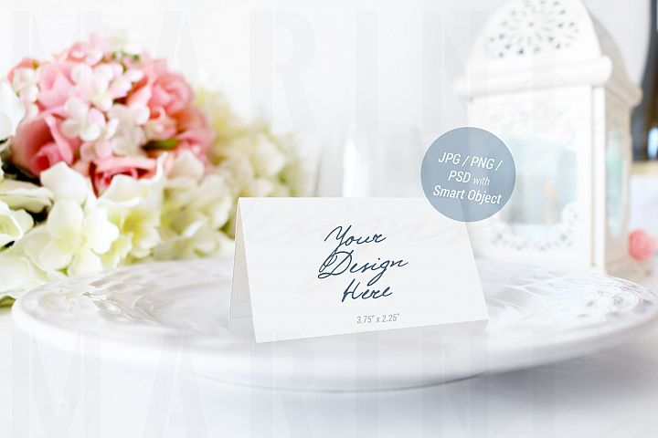 Wedding mockup, Place card mockup, name card mockup, PSD 936