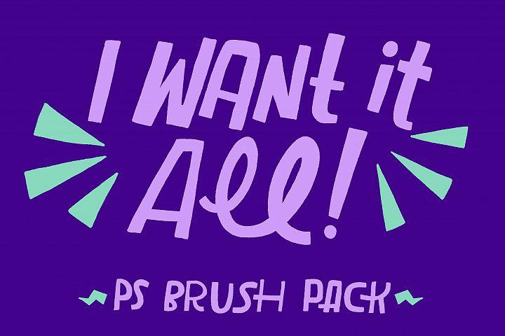 I Want It All! PS Brush Bundle