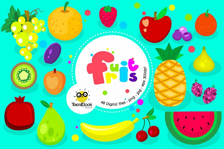 Fruits and Smoothies Clipart