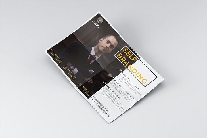 Professional branding flyer