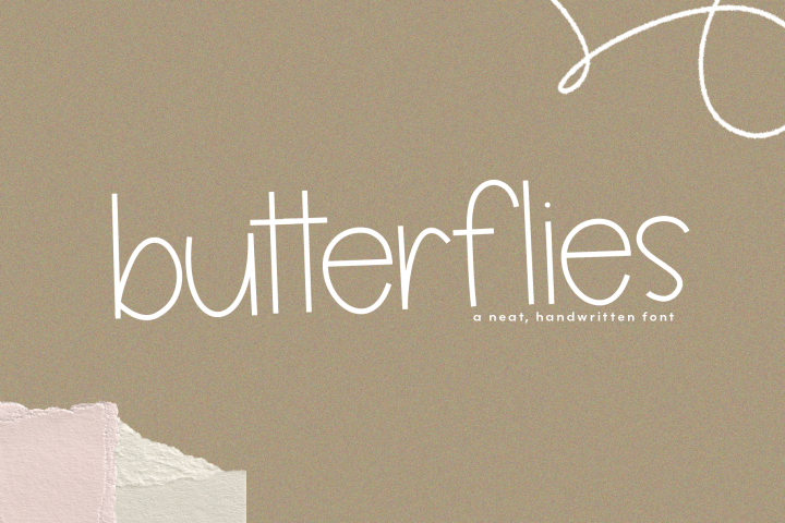 Butterflies - A Thin Handwritten Font