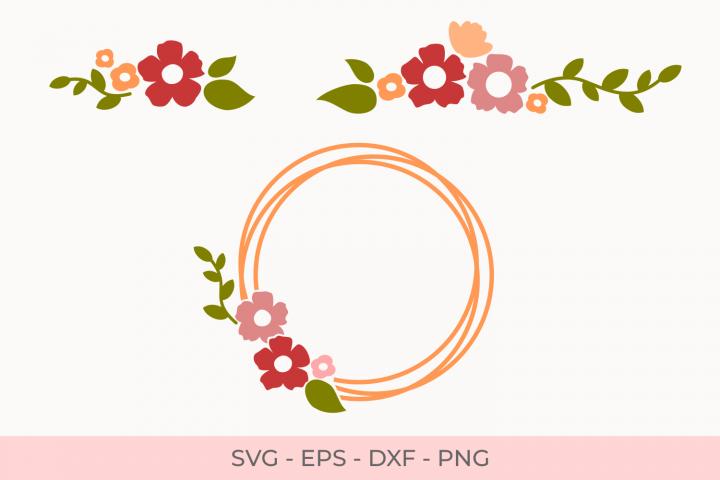 Flowers Svg, Florals Svg, Flower Bouquets Svg