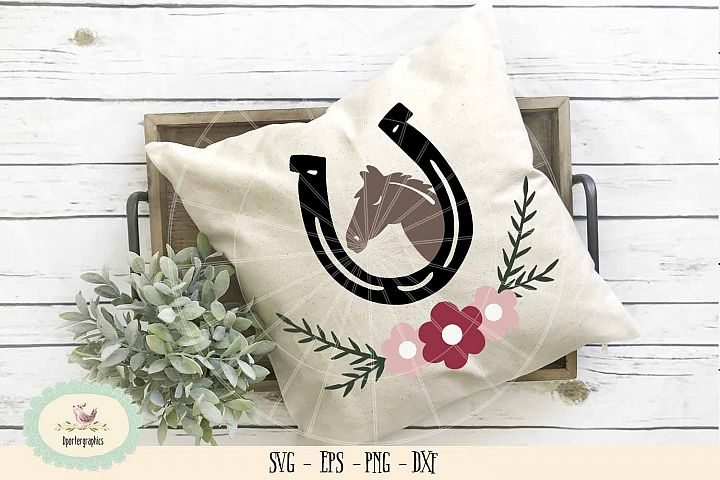 Horse shoe flower SVG PNG horse lover