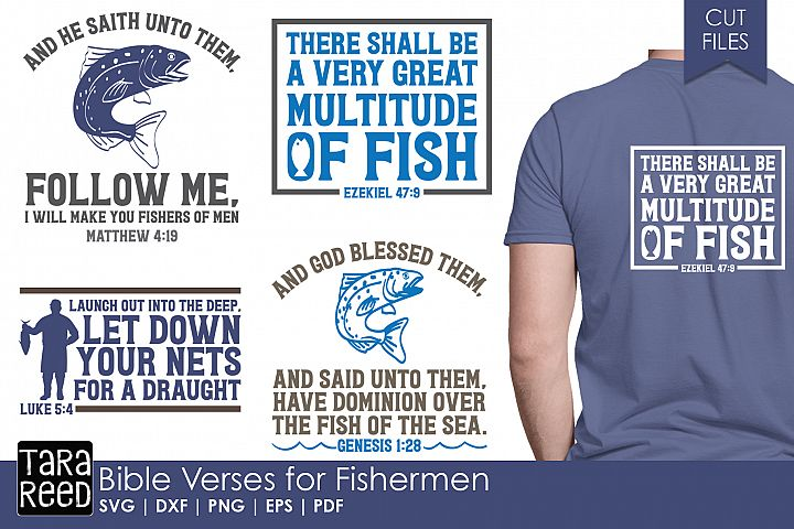 Bible Verses for Fishermen - Fishing SVG and Cut Files