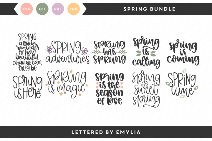 Hand Lettered Spring Bundle