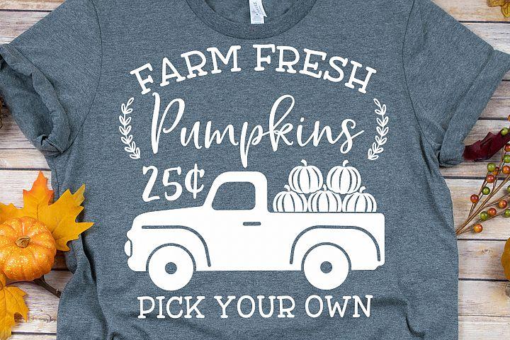 Farm Fresh Pumpkins Pick Your Own SVG, DXF, PNG, EPS