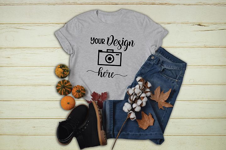 Fall T-shirt Mockup Bella Canvas