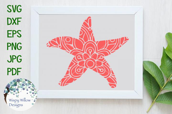 Starfish Mandala, Animal Mandala SVG Cut File