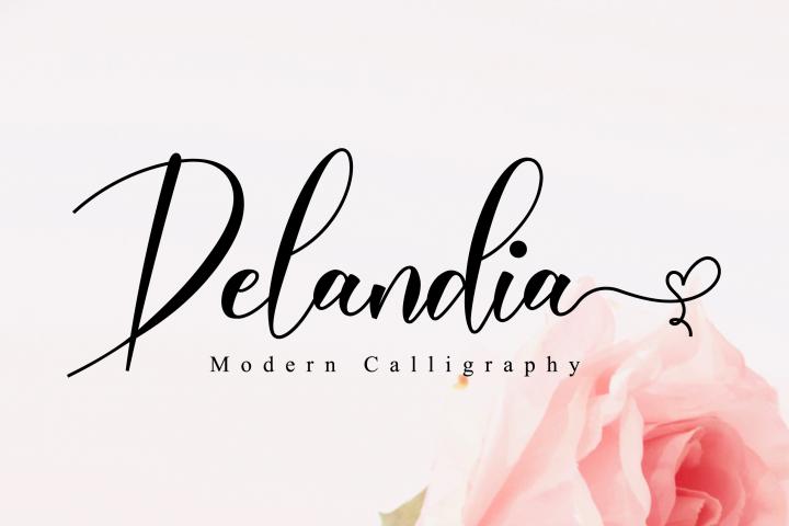 Delandia Script