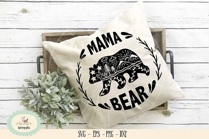 mama bear SVG PNG