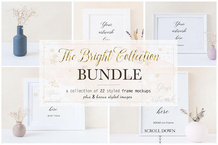 Floral Frame Mockup Bundle - bnd013
