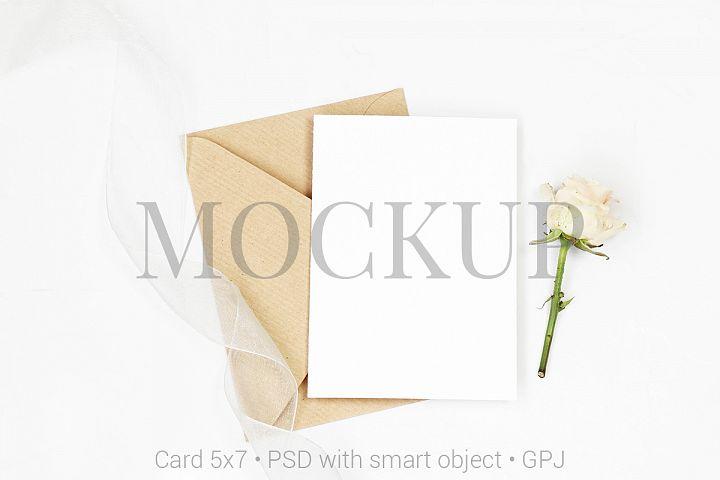 Mockup card with envelope & FREE BONUS