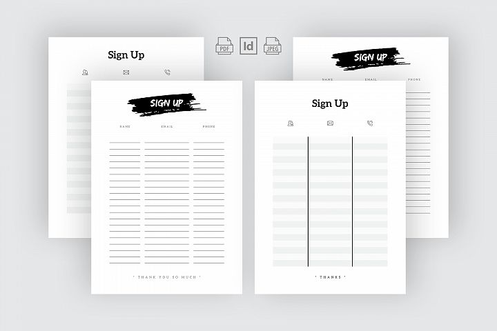 Sign Up Template