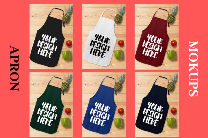 Apron Mock Ups Bundle With Kitchen Theme - 6