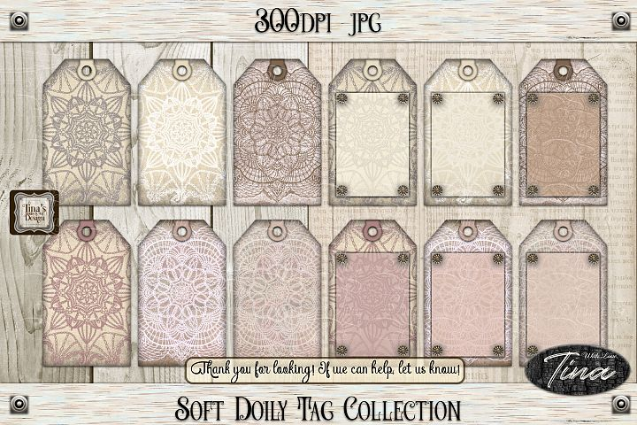 So Soft Doily Tags Antique Dainty Feminine 111218SDT