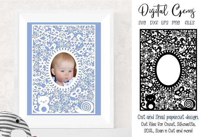 Animal frame paper cut SVG / DXF / EPS / PNG files