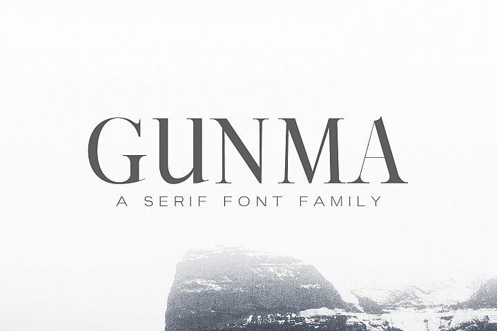 Gunma Serif Font Family Pack