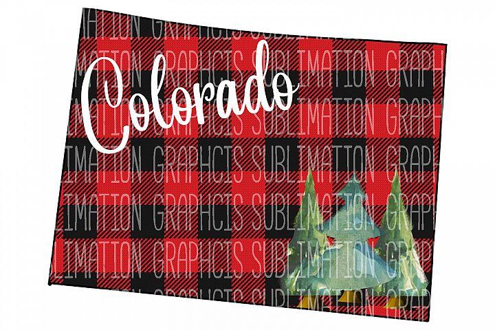 Colorado Plaid Sublimation Digital Download