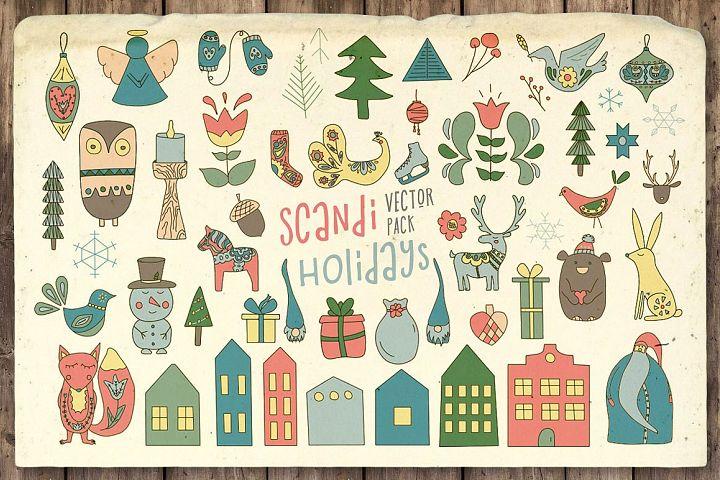 Scandi Holidays Vector Pack