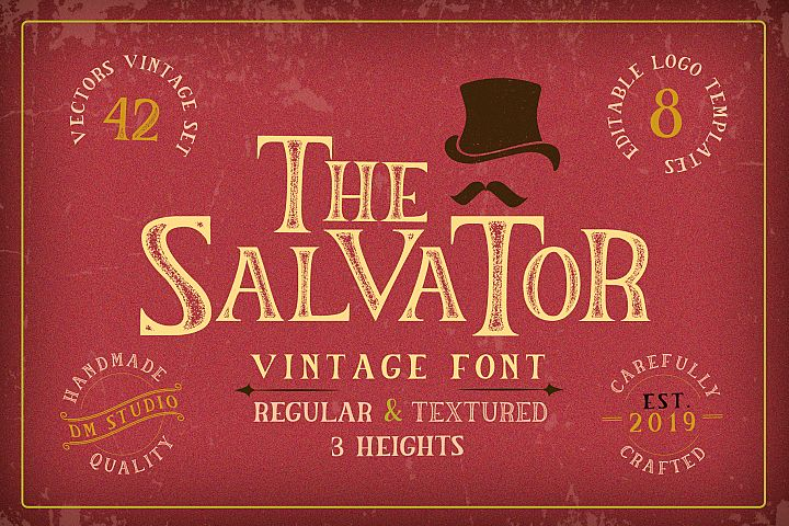 The Salvator - Vintage Font Set