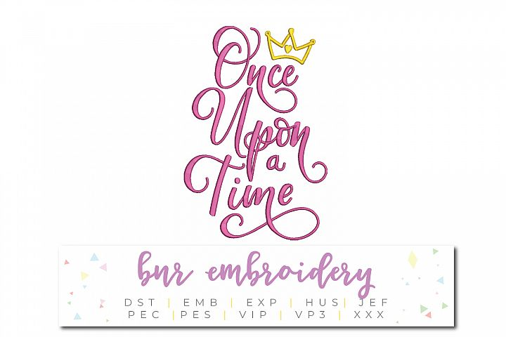 Once Upon a Time Machine Embroidery Design, Fairytale