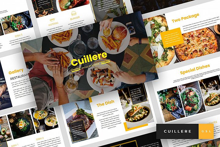 Cuillere - Restaurant Google Slides Template