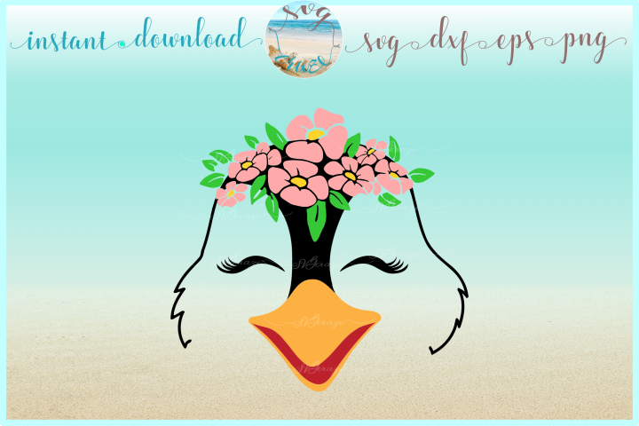 Penguin Face With Flowers Svg Dxf Eps Png Svg Files