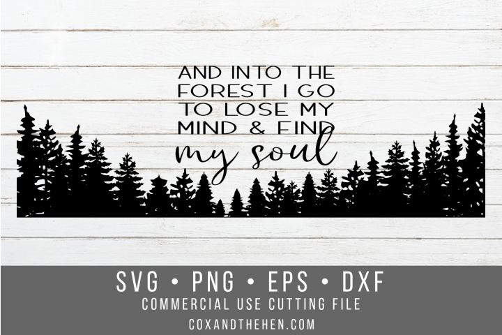 Find my Soul Forest Wood Sign Stencil SVG