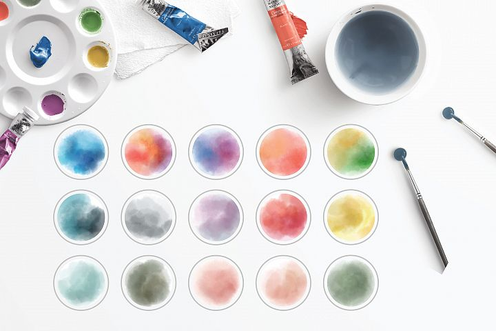 15 Watercolor Instagram Story Highlight Icons