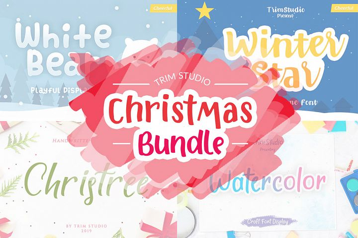 Trim Studio Christmas Bundle Fonts Collection