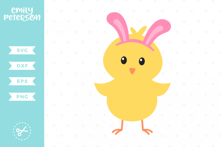 Easter Chick SVG DXF EPS PNG