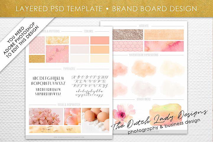 PSD Brand & Design Board Template - Design #5