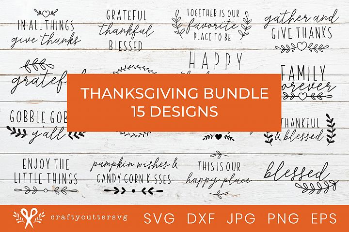 Thanksgiving Svg Bundle Cut Files House Sign Clipart