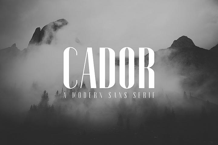 Cador Modern Sans Serif Font