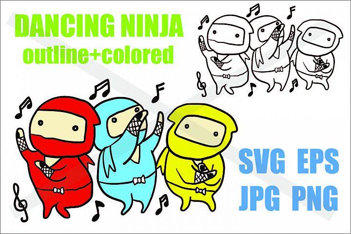 Dancing Ninja - SVG/EPS/JPG/PNG