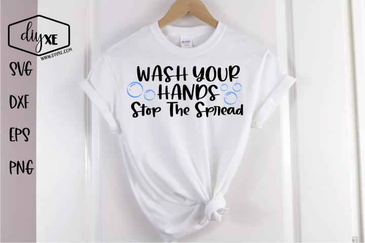 Wash Your Hands - A Social Distancing SVG Cut File