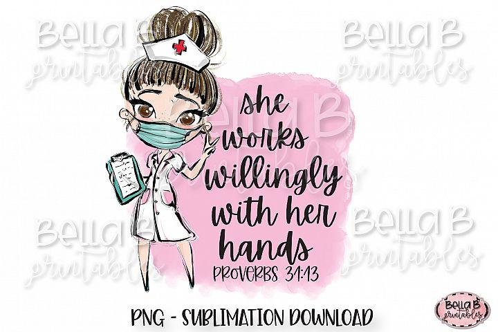 Medical Doctor Sublimation Design, She Works Willingly