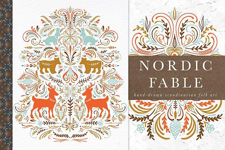 Nordic Fable Scandinavian Folk Art Illustration Kit