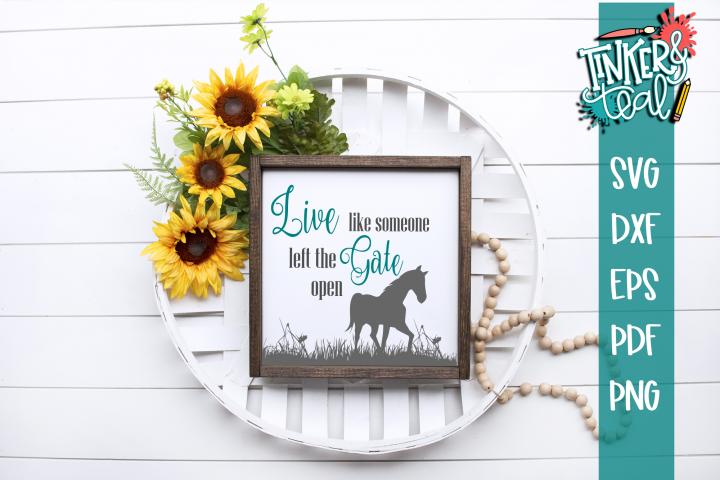 Farmhouse Inspirational Horse SVG DXF Comm