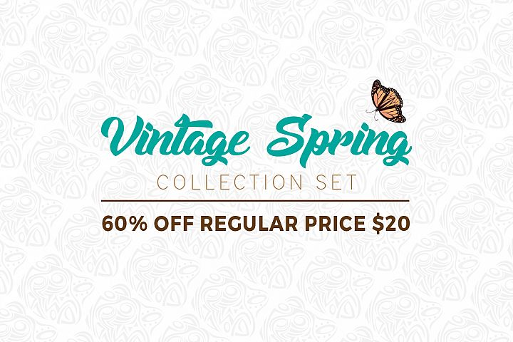 Vintage Spring Collection Set - 60% OFF regular price