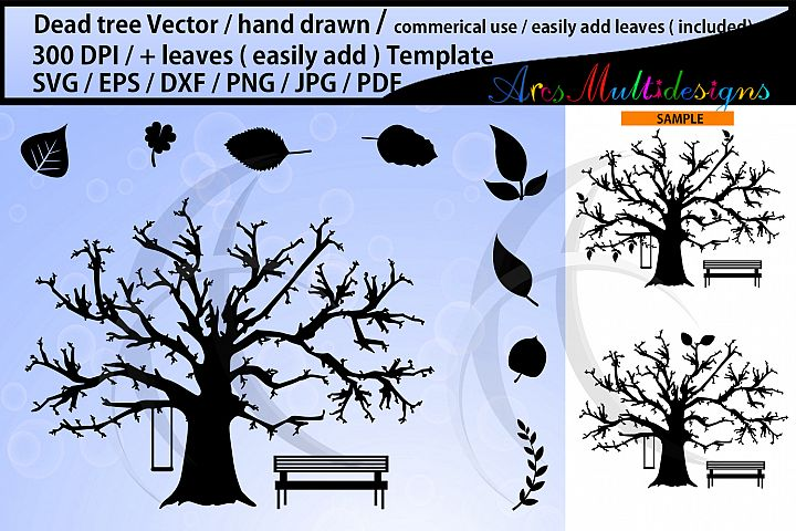 Dead Tree svg / No leaves tree svg / leaves svg / template