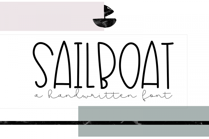 Sailboat - A Fun Handwritten Font - Free Font of The Week Font