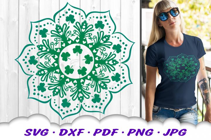 Shamrock Mandala SVG DXF Cut Files