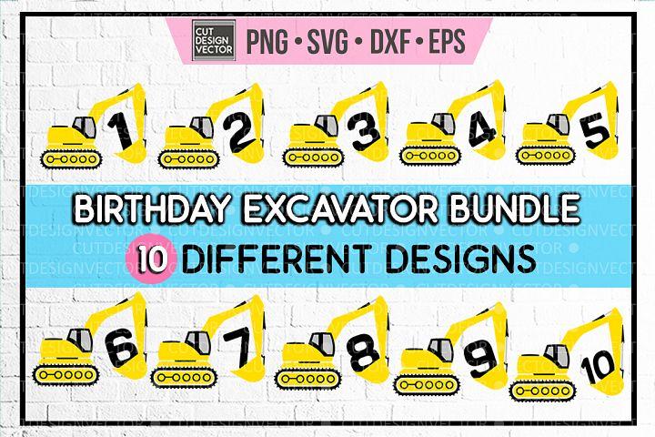 Birthday Excavator BUNDLE