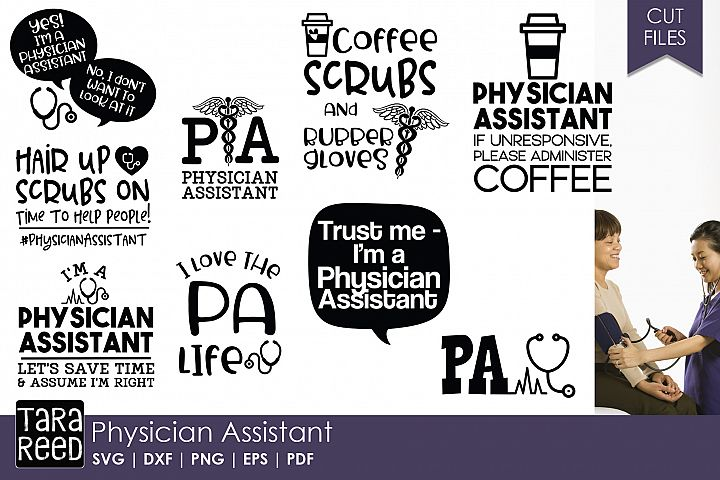 Physician Assistant SVG and Cut Files for Crafters
