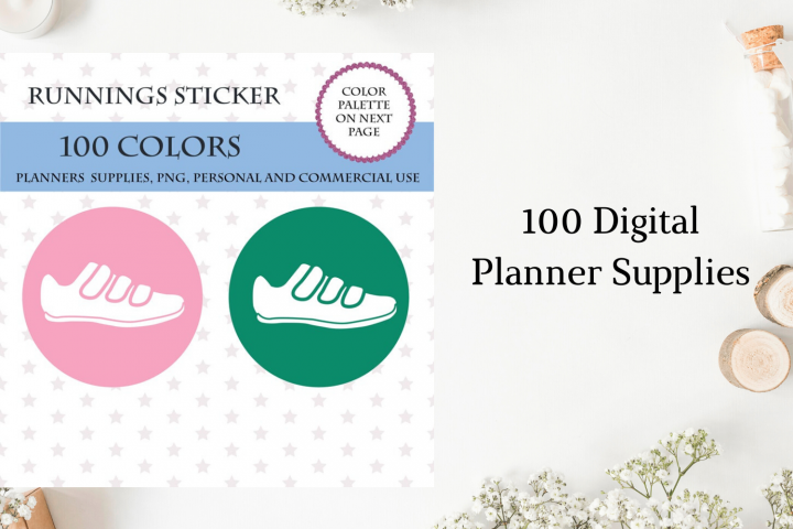 Running tracker, Running stickers, Running planner stickers