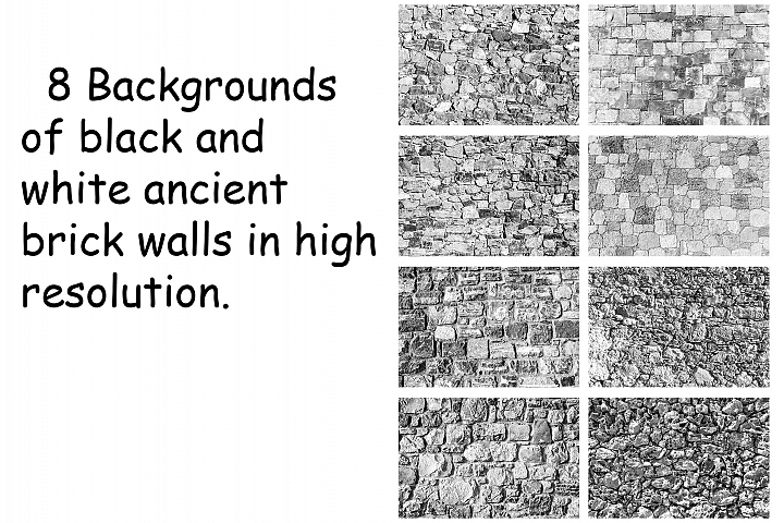 Collection of old brick wall textures in hi resolution.